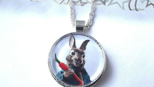 PETER RABBIT PENDANT 16 18 20 INCH CHAIN NECKLACE IN GIFT BOX BIRTHDAY PARTY