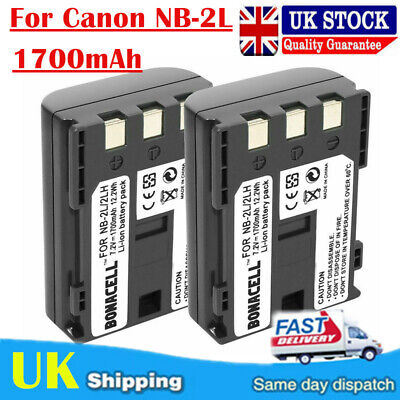 2x bateria canon eos350d eos400 g7 g9 400d nb-2lh
