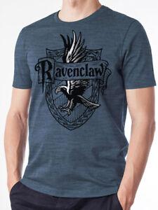 Serdaigle-SAGE-Crest-Officiel-Harry-Potter-Poudlard-Bleu-T-shirt-Homme