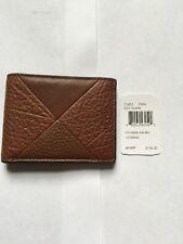 BLACK or DARK SADDLE   57337B NWT Coach Slim Leather Card Case in Gift Box