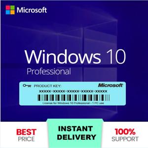 ⭐WIN 10 Pro Professional ✅ Win10 PRO full version license key 32 / 64bit ????