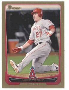 1x-MIKE-TROUT-2012-Bowman-34-GOLD-Los-Angeles-Angels