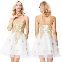 Short Formal Sequin Wedding Party Prom Dress Bridesmaid Evening Cocktail Dresses