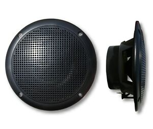 Marinavox-5-034-Full-Range-Marine-Audio-Speaker-VX-155B-BLACK-Boat-Spa-Hot-Tub-PAIR