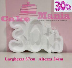 30th Polistirolo Porta Confetti Caramelle Decorazione Confettata 30