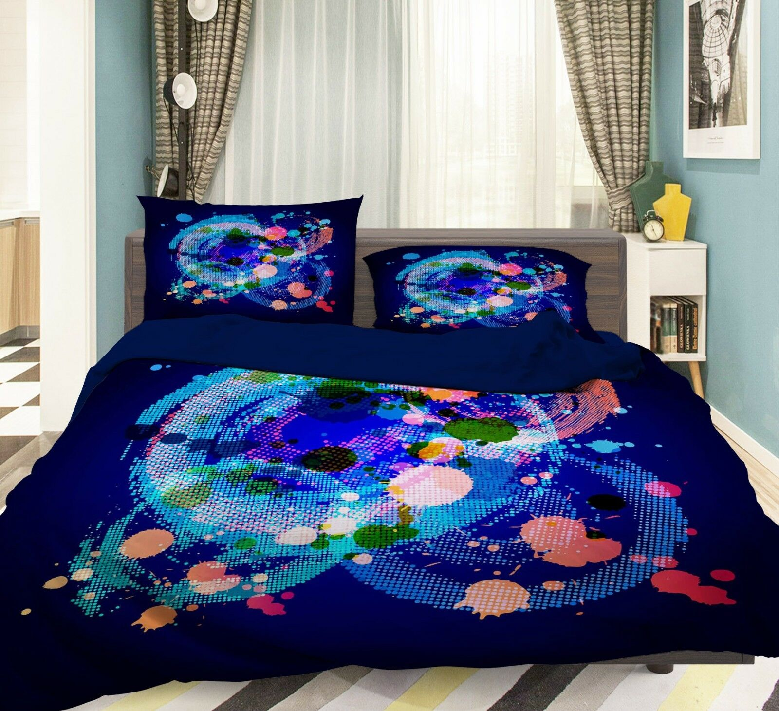 3D Painted Graffiti8 Bed Pillowcases Quilt Duvet Cover Set Single Queen AU Carly