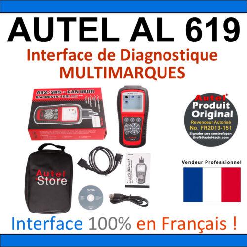 Multimarque AUTEL AutoLink AL619 VOITURE SCANNER VALISE DIAGNOSTIQUE OBD OBDII