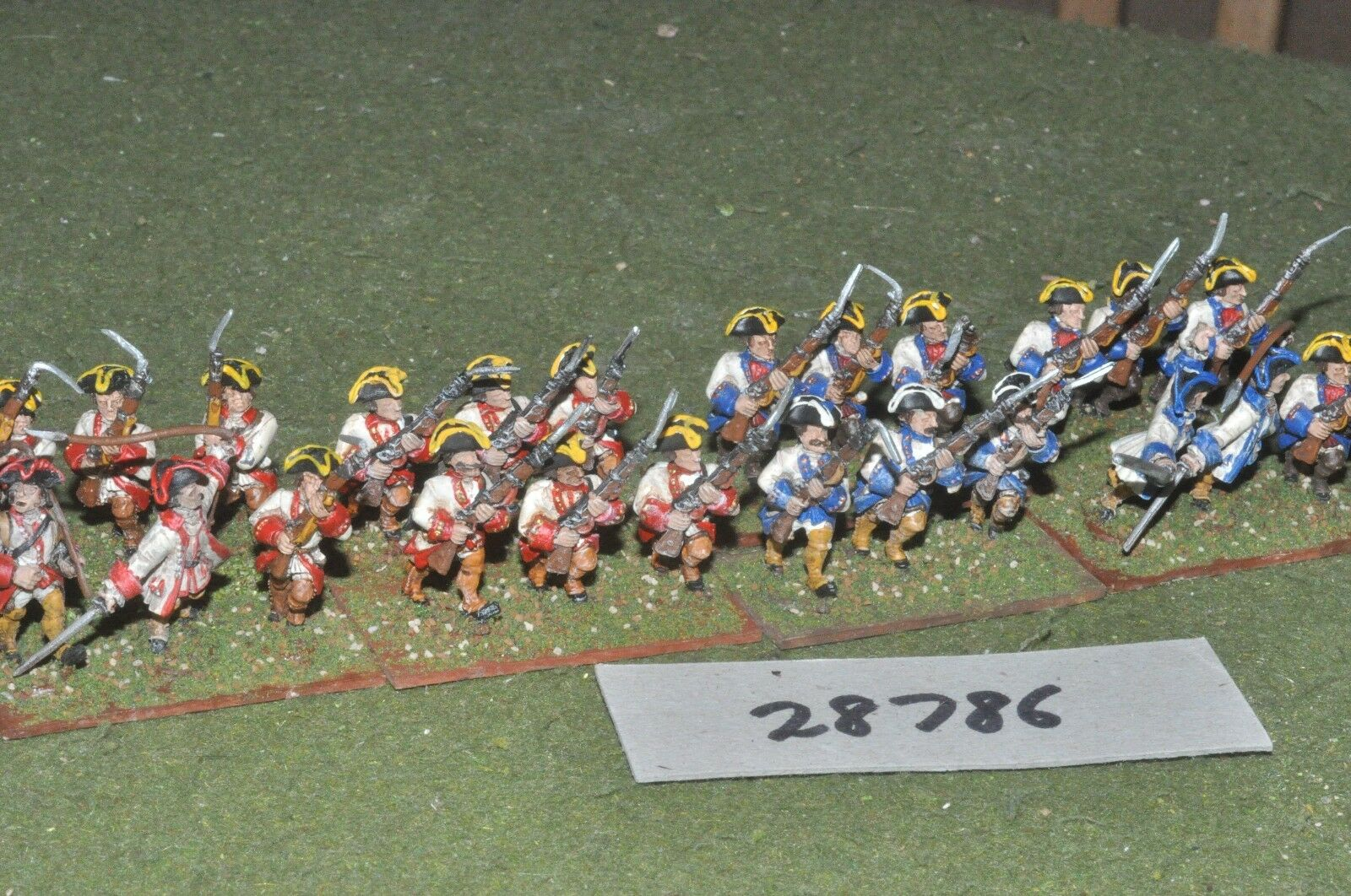 25mm 7YW   french french french - regt. 24 figures - inf (28786) 902de0