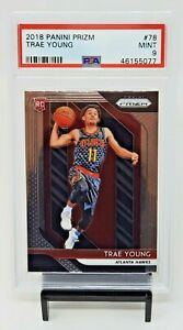 2018-Prizm-Atlanta-Hawks-RC-Star-TRAE-YOUNG-Rookie-Basketball-Card-PSA-9-MINT