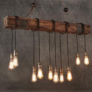 10 Lights Antique Farmhouse Wood Beam