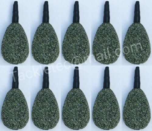 10 x Inline Flat Pear Leads ARMY CAMO  TEXTURED Carp Leads Fishing Weights