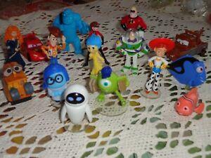 Détails Sur Collector Les 16 Figurines Pixar Disney Auchan Neuves