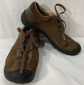 KEEN SM 0708 Womens Sz 7.5 Suede Leather Outdoor Hiking Lace-Up Shoes Brown