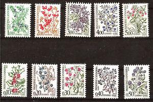 ANDORRA-sellos-tasas-nuevos-Flora-vanos-salvajes-N-YT-53-62-E215