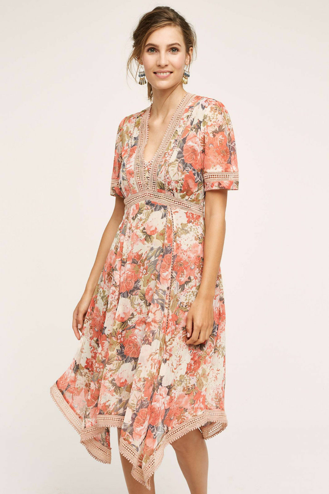 077c3200025 Anthropologie pink Bouquet Dress By Ranna 2P 0R Gill or nrfwcj18515-Dresses