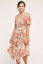 Anthropologie Rose Bouquet Dress By Ranna Gill 0, 2, 2P