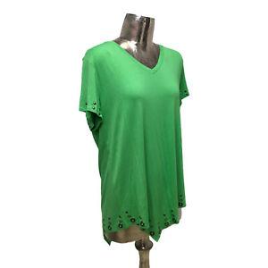 Marble Top T-Shirt Green Oversize UK L 16 (EU44) NEW Women's RRP £43