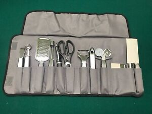 Details about Wolfgang Puck 11 piece Garnishing Utensils Kitchen Tools Set  with Carrying Case