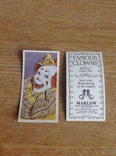 Rare Trade Card Marlow Clowns Jacko Fossett No 21 Circus