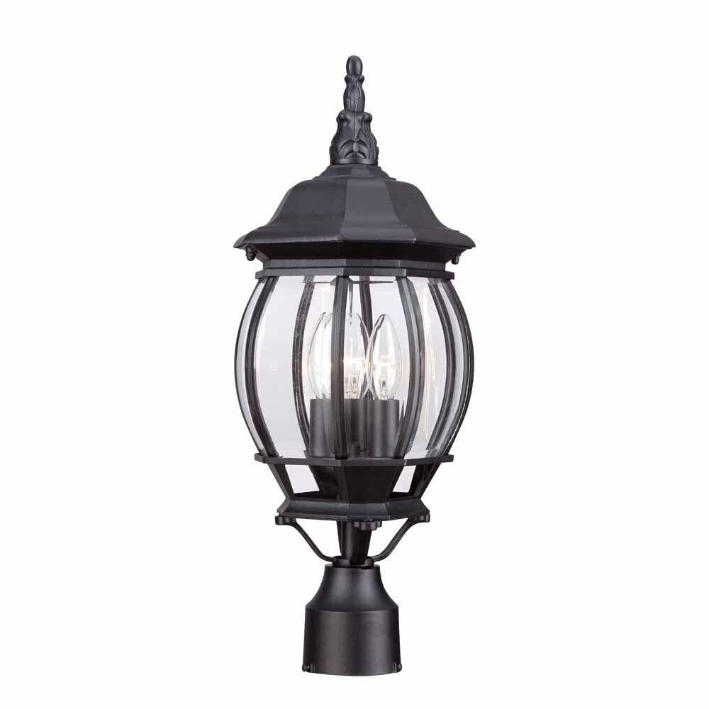 Hampton Bay HB7029-05 de 3 Luz Negro Lámpara al Aire Libre