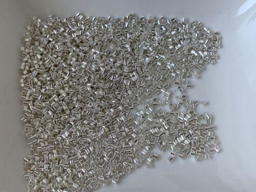 950 silber Quetschröhrchen 1,5  mm Quetschperlen crimpen Quetschkalotten R44