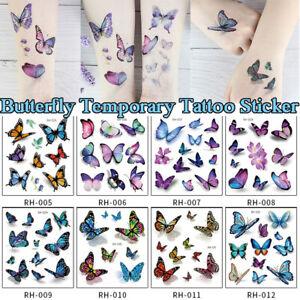 Butterfly-Cartoon-Temporary-Tattoos-Sticker-Fake-Taty-Body-Art-Waterproof