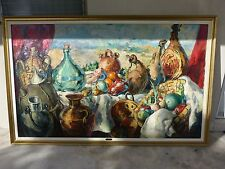 ENORMOUS IMPORTANT PAINTING BY SPANISH ARTIST JUAN BANDERA WELL LISTED 1917-1999