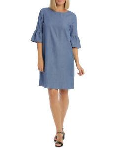 NEW-Regatta-3-4-Sleeve-Chambray-Dress-Denim