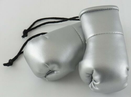 Silver Mini Boxing gloves perfect as a  wedding Favour