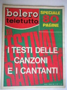 Bolero-1135-Sanremo-Nero-Bano-Pravo-Casuals-Morandi-Goggi-Berti-Rokes-Cinquetti
