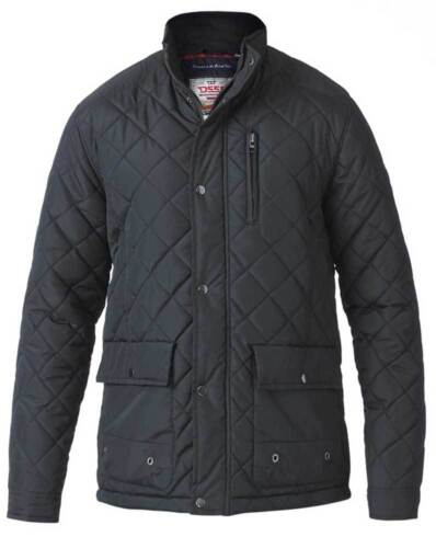 133569 D555 BY DUKE MENS NEW BLACK QUILTED JACKET SIZE M L XL