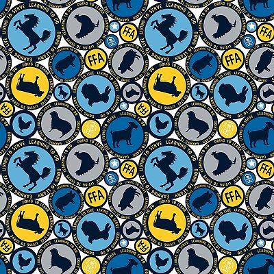 FFA Forever Fabric Riley Blake FFA Emblem On Blue Quilt Shop Quality