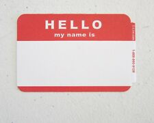 50 Red Hello My Name Is Name Tags Labels Badges Stickers Peel Stick Adhesive
