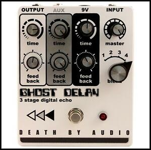 death by audio ghost delay three delays in one guitar effects pedal ebay. Black Bedroom Furniture Sets. Home Design Ideas