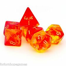 RED GEM BLITZ POLY Dadi Set 7 polinomiale per D20 RPG ROLEPLAY