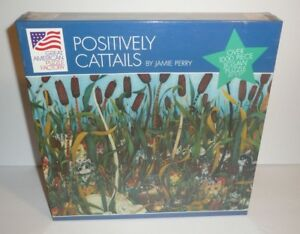 Positively Cattails By Jamie Perry 1000 Piece Jigsaw Puzzle Cats