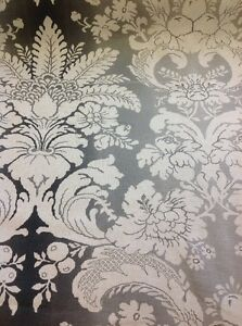 Designer Floral Curtain Fabric Aidin In Purple By The Metre