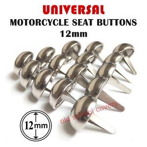 Motorradsitzbank-Chrom-Gewoelbte-Knoepfe-Nieten-12mm-Durchmesser-Set-Mit-15