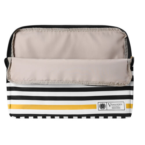 "VanGoddy Stripe Leather Laptop Sleeve Case Bag For 15.6/"" Dell XPS 15// HP ProBook"