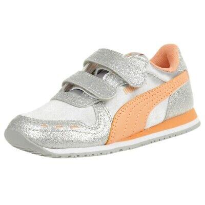 PUMA Kinder Cabana Racer Glitz V PS Sneaker Turnschuhe 370985 Silber   eBay