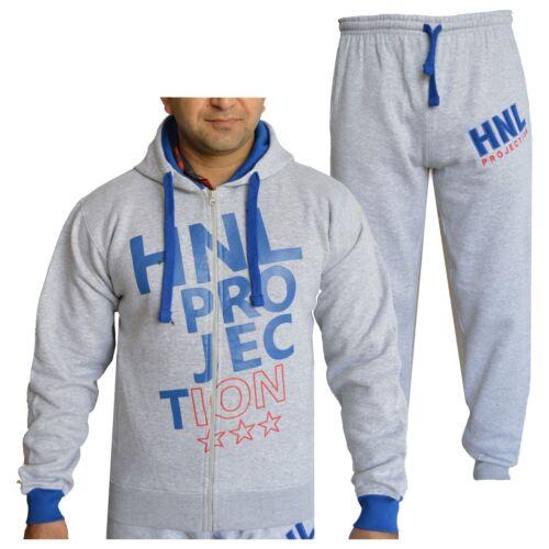 Kids Boys Grey /& Blue Designer Tracksuit HNL Hooded Bottoms Joging Suit 7-13 Yrs