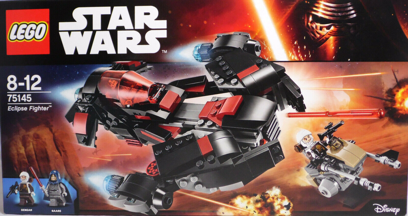 Lego Star Wars 75145 Eclipse Fighter Dengar Speeder Naare vaisseau NEUF