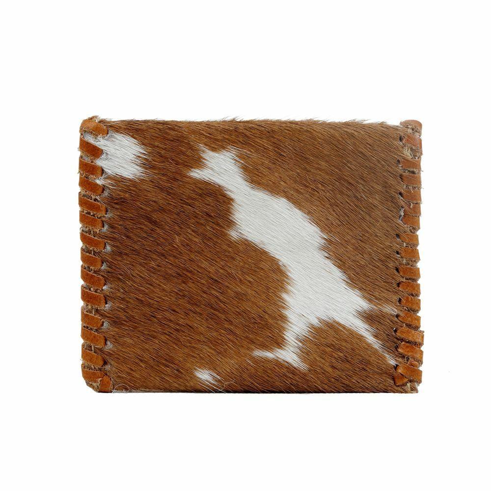 Myra Bags Womens Cute Side Hair-on Coin Purse, Brown / White