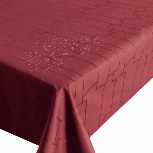 Au Mètre Tissu Royal Pierres Rouge Bordeaux Largeur /& Longueur Au Choix Nappe