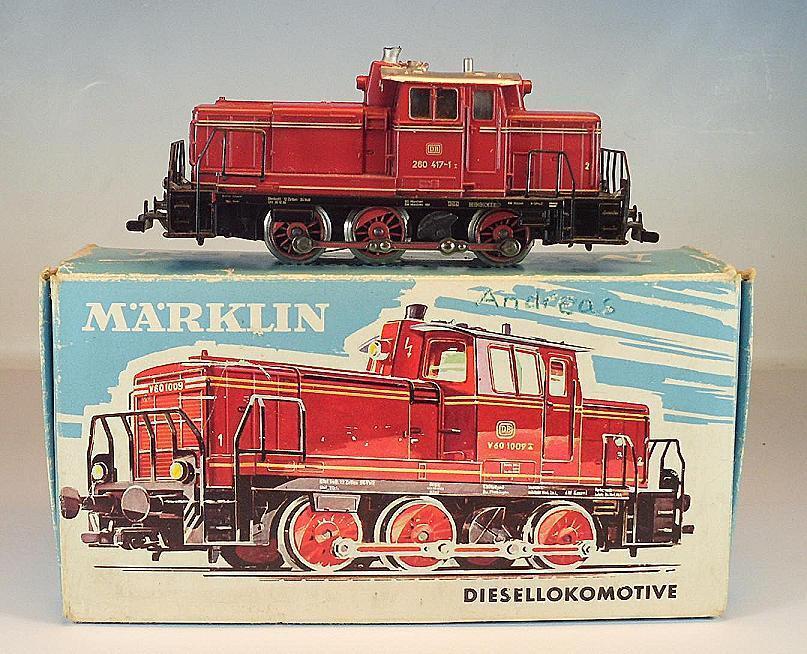 Märklin h0 3065 Diesellok 260 417-1 the DB Telex Coupling tested in O-Box