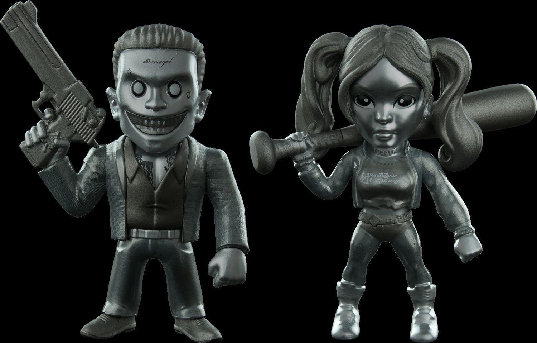 BNIB Suicide Squad Harley Quinn & Joker Joker Joker Metal Dies Cast SDCC Exclusive 4 inch e6ecea