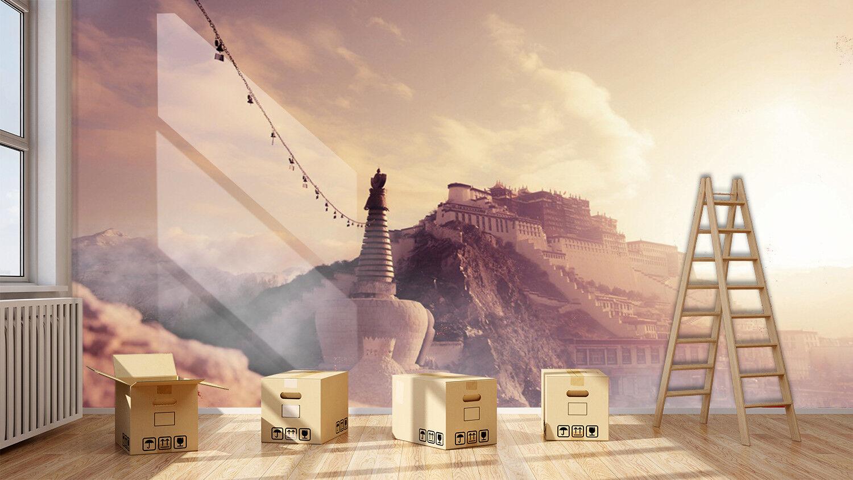 3D Mysterious Tibet 74 Wall Paper Murals Wall Print Wall Wallpaper Mural AU Kyra