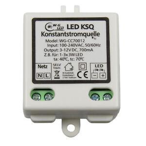 LED-Konstantstromquelle-Treiber-3-12V-700mA-KSQ-fuer-z-B-1-3x-3W-LED-9W-Driver