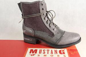 Mustang-Botines-Botas-de-Cordon-Botas-Gris-1229-Nuevo
