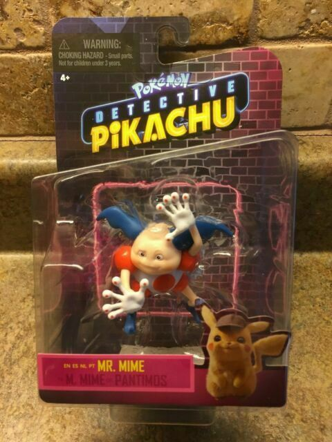 Pokemon Detective Pikachu Mr Mime Figure Wicked Cool Toys Brand New